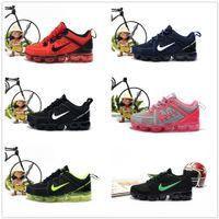 ingrosso scarpe a maglia del ragazzo-nike air max airmax vapormax 2019 baby kid Knitting Portable Kids Running Shoes Bambini 2018 cuscino KPU Calzature sportive Ragazzi Ragazze Training Sneakers