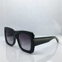 gafas de estilo al por mayor-Lujo populares gafas de sol de diseño cuadrado estilo de verano para las mujeres gafas de sol de calidad superior UV400 lente color mezclado con caja original