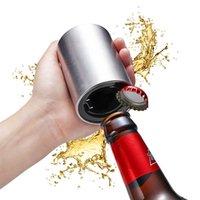 ímãs de vinho venda por atacado-Magnetic Beer automática abridor de aço inoxidável garrafa de Imãs portátil ferramentas Wine abridores Bar Opener Magnetische Bier flesopener