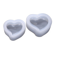 Wholesale polymer clay jewelry diy for sale - Group buy 3D Silicone Heart Mold Resin Pendant Jewelry Making Mould Clay Polymer Casting Craft DIY Size Clear Color
