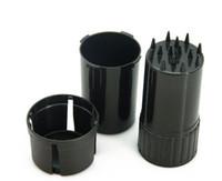 Wholesale chinese grinder resale online - Plastic Tobacco Spice Grinder Chinese Medicine Grinder Pulverizer Plastic Bottle Shape Smoke Grinder Three Layers mm