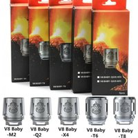Wholesale 5pcs pack baby for sale - Group buy 5pcs pack TFV8 Baby Beast Coil Head T8 X4 T6 Q2 Beast Coil Engine Core For TFV8 BABY Beast Tank Smoking Accessories CCA11279