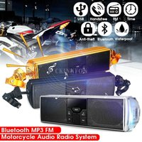 Wholesale led mp3 player bluetooth speaker resale online - DHL Bluetooth Motorcycle MP3 Music LED Player Speakers Motorbike Bluetooth Stereo Speaker FM Radio Waterproof Audio Player car