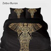 cama de rainha elefante venda por atacado-Conjuntos de cama 3D luxo, cama Set King / Queen / Tamanho Personalizado, capa de edredão set Bonito Elefante, Cobertor / Quilt Cover Set, Drop Ship