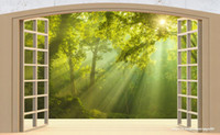 Wholesale painting rooms house for sale - Group buy Custom Photo Wallpaper D Abstract Original window balcony woods Background Mural Wall Painting Living Room Sofa TV Backdrop