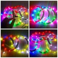 ingrosso collari di cane in plastica-Collare per cane regolabile con ricarica USB Collare per cani luminoso a LED ricaricabile notturno ricaricabile Collare solido in plastica per cani