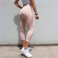 ingrosso giacche in lycra delle donne-Fnmm Womens Yoga Pants 3/4 Vita alta Yoga Leggings per le donne Hip Up Fitness Sport Leggings Donne Palestra Sportswear Running Collant C19040301