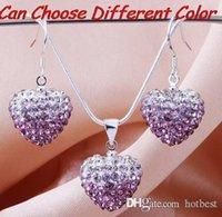 mezcla de cuentas de 15 mm al por mayor-Precio más bajo stock 15mm * 15mm perlas de cristal multicolor mezcla Pendiente de cristal conjunto pendientes de gota Collar Colgante s2525 x82