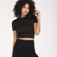 Wholesale short paragraph clothes resale online - 2019 New Women Fitness Quick Dry Brief Paragraph Midriff baring Ventilate Running Slim Fit Short sleeve Yogo Clothes