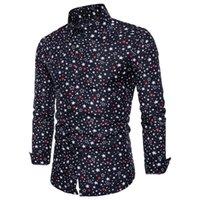 männer polka kleid hemden groihandel-Cotton Men Shirt legere Kleidung Hemd Tupfen-Camisa Masculina