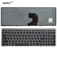 заменить ноутбук оптовых-GZEELE russian laptop keyboard for LENOVO Z500 Z500A Z500G series RU layout with silver frame notebook replace laptop Keyboard