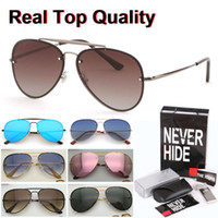 Wholesale accessories plastic packaging for sale – best New Blaze Mirror Rivets Brand Sunglasses Men Women Metal frame Traveller Oculos De Sol with original box packages accessories everything