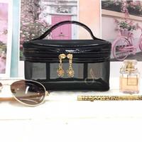 bolsas de cosméticos cerraduras al por mayor-Bolsa de malla cosmética / cremallera bolsa de malla de viaje / bolsa de malla de belleza con el mejor diseño