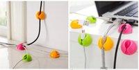 rangement de câble achat en gros de-Attrayant Câble Clip Bureau Fil Propre Laisse Fil USB Chargeur Cordon Titulaire Organisateur Titulaire Ligne Accessoires G034