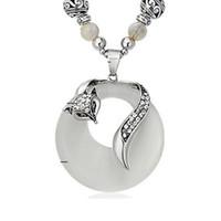 Wholesale resin shapes beads resale online - 20 pieces per Fox shaped pendant charm necklace beads necklaces with fox shaped pendant fashionable charm necklace