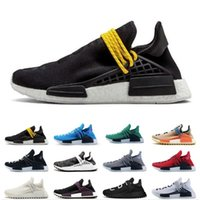 Wholesale art limited online - 2019 Limited Human race Hu trail x pharrell williams Nerd men running shoes white Equality mens trainers for women sports sneaker