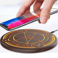 Wholesale wireless phone range resale online - 10W Qi Wireless Fast Charger Circle Magic Optical Array Wireless Charging For QI Standard Full Range Charging Phone