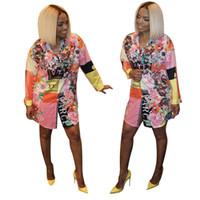 frauenrock blumen großhandel-J1747 Damen Kleidung Expert Platform Flower Color Shirt Rock