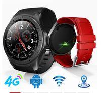smartwatch wifi toptan satış-4g smart watch android 7.1.1 gps wifi bluetooth 1 gb + 16 gb 600 mah büyük pil smartwatch erkekler kadınlar hava tahmini izle