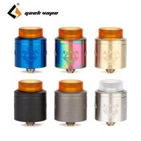 Wholesale geekvape drip tip for sale - Group buy Geekvape Tengu RDA rebuildable drip atomizer with mm diameter for most squonker MODs Drip Tip N80 Fused Clapton Coil vape
