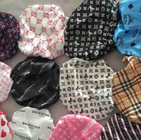 Wholesale springs hair resale online - Muslim men women round Wide Stretch Silk Satin Breathable Bandana Night Sleeping Turban Hat headwrap Bonnet chemo cap Hair Accessories A02