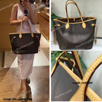 Wholesale handbags brown for sale - Women s Canvas Shopping Tote with small clutch Genuine Leather Shoulder Bag High Quality Women Handbag Mix Colors