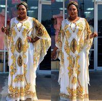 lüks artı boyut maxi elbiseler toptan satış-Yaz Kadın Lüks Baskı Elbiseler El yapımı Yapay elmas Designer Plus Size Kadınlar Maxi Elbise Moda Günlük Kadın Giyim