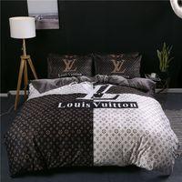 flores cama king size venda por atacado-Roupas de cama de moda Designer de flores 4PCS Conjunto de cama King Size Home Texitle (1 PC Folha de cama 1 PC Comforter Cover 2 PCS Fronha)