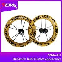 12-дюймовые велосипедные колеса оптовых-Hot Wheels SEMA 12 дюймов 203 полный карбоновый колесный пар с керамическим подшипником ступицы хабсмита для детей баланс велосипед радуга титановые спицы