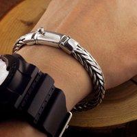 925 links de corrente de pulseira de prata venda por atacado-New Men pulseira de prata esterlina 925 pulseiras Largura 9 milímetros trançado Chain Link tailandês prata Pulseiras para homens mulheres pendant presentes