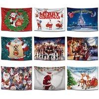 santa malereien groihandel-Weihnachts-Tapisserie-nordischer hängender neues Jahr-kreativer Hintergrund-Stoff Santa Claus Paintings Sofa Towel