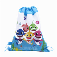 Wholesale designer cartoon fabric for sale - Group buy Baby Shark Backpack Cartoon Drawstring Bags Surprise Girls Unicorn Avenger Theme Designer Non woven Fabric Bags Party Favor Gifts A61302