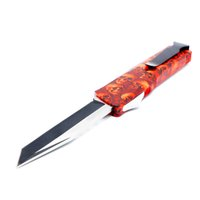 Wholesale skull self defense resale online - A16 red skull models double action tactical self defense folding double edc action knife automatic knife automatic knives xmas gift
