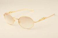 modelo de templo al por mayor-2019 nuevo ultra ligeros de oro de leopardo diamante cuadrado templos gafas de sol de las gafas de sol 6384084 modelos de la moda de los hombres, los parasoles