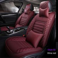 asientos de coche de cubierta completa al por mayor-Fundas de asiento de coche universales Para Ford mondeo Focus Fiesta Edge Explorer Taurus S-MAX F-150 Accesorios de auto Completos (Delanteros + Traseros)