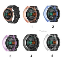 Wholesale huawei gt smartwatch online – TPU Case Slim Smart Watch Protective Case Cover For HUAWEI Watch GT e Case Frame AntiScratch Shell Smartwatch Accessory promotion Sale