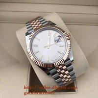 erkekler için en iyi ürünler toptan satış-Erkek erkek Lüks Ürünleri En Kaliteli Klasik Serisi 126331 Datejust Paslanmaz Gümüş ile Güneş Toz Arama hareketi otomatik Saatler