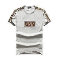 impressão de curta duração venda por atacado-Verão Moda masculina O-pescoço de Algodão Camiseta Carta Impressão Hip Hop # 6166 Marca Masculino T-Shirt de Manga Curta Casual Correndo Ginásio Esporte Tee Tops