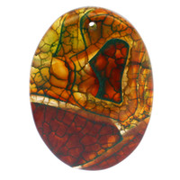 achatmuster groihandel-Mehrfarben-Oval einzigartige Muster Achat Stein Anhänger Zubehör Großhandel