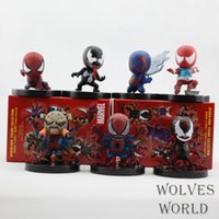 Wholesale spider man movie doll toys for sale - Group buy Animation Toy Movie q version spider man boxed handmade dolls