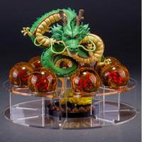 ingrosso set di sfera di cristallo dragonball z-Figure di action figure di Dragon ball Shenlong in pvc con dragonball z set di sfere di cristallo 4.5 cm dragon ball mensola collezione completa Decor toy FFA2074