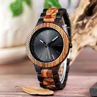 wrist watch gift box оптовых-Высокого качества роскошь мужские фирменные логотип мода дерево часы мужские наручные Саати в подарочной коробке