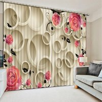 ingrosso ghirlanda viva-Fashion Customized 3D Curtain Garland and butterfly photo Blackout Window Drapes Tende 3D di lusso per l'ufficio della sala soggiorno