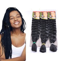 Wholesale red xpression braiding hair resale online - xpression synthetic braiding hair x pression synthetic hair braids synthetic hair fiber X pression