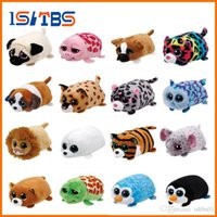 ingrosso grande panda giocattolo-Beanie Boo teeny 30 stili ty Plush the Seal 10cm Ty Beanie Boos Big Eyes bambola peluche Toy Purple Panda Baby regalo per bambini
