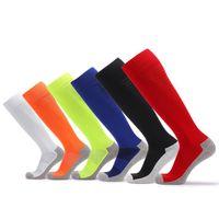 Wholesale racing hoses for sale - Group buy New Men Basketball Socks Knee High Stockings Man Designer Long Hoses Solid Color Pink Sports Socks