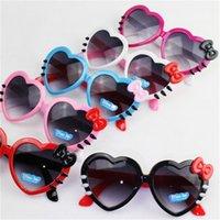 çocuklar kalp güneş gözlüğü toptan satış-Ilmek Güneş Gözlüğü Çocuk Gözlük Şeftali Kalp Kedi Göz Erkek Ve Kız Yaz Plaj Ultraviyole Geçirmez 2 7hy F1