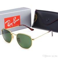 Wholesale ray band sun glasses resale online - 3548 Glass Lens Wayfarers Sunglasses RAY Men Women Brand Cat Eye Sun Glasses Bands BEN Mirror Gafas de sol BANS with cases