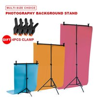 Wholesale photography backdrop stand clamps resale online - Professional Photography Photo Backdrop Stands T Shape Background Frame Support System Stands With Clamps for Video Studio