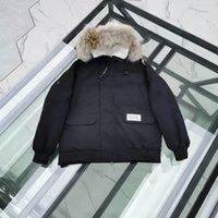 парковая куртка мужская чёрная оптовых-Канада Мужская Куртка Парка 19FW Винтаж Роскошные мужские Дизайнерские Куртки Гусиные Черные Зимние Пальто Высокого качества Марка Белый Пуховик Продажа
